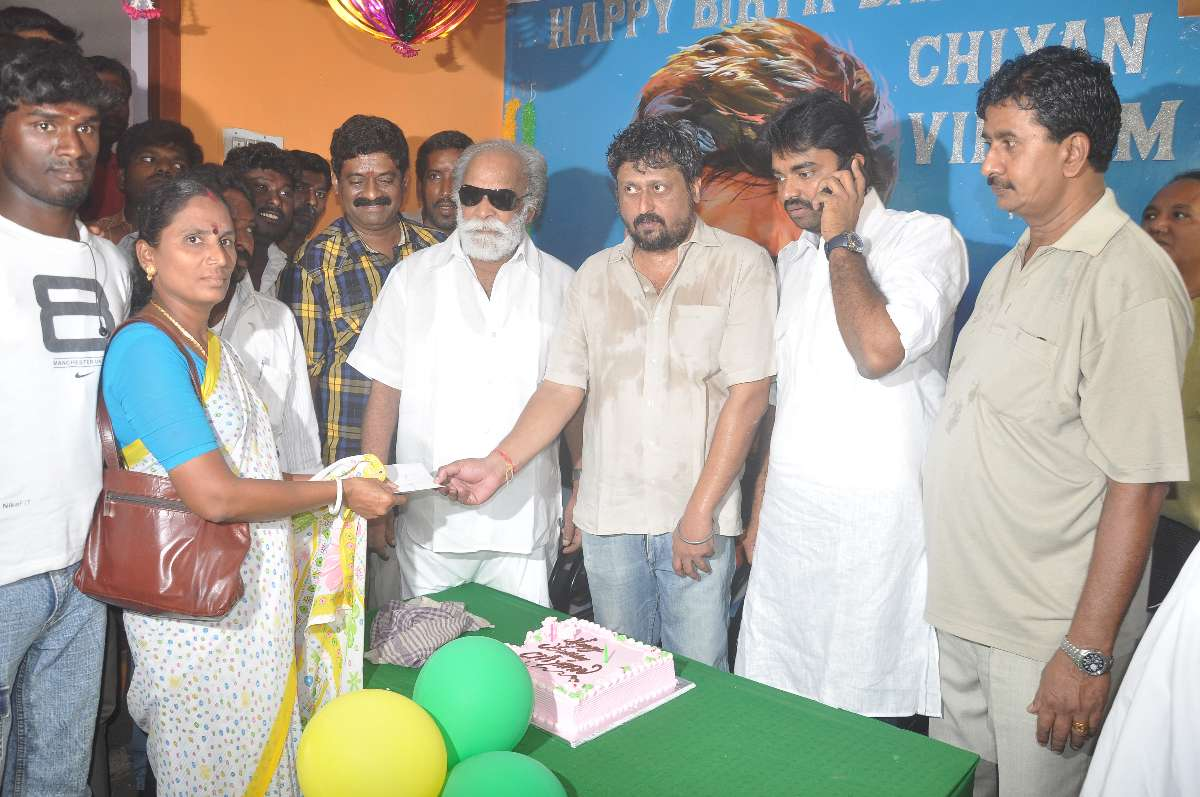Actor Siyan Vikram Birthday Celebrated By His Fans Assn